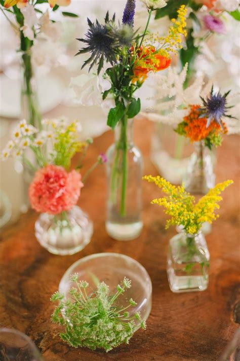 Flowers In Small Vases by A Destination Wedding In Portugal Flowers Wildflower