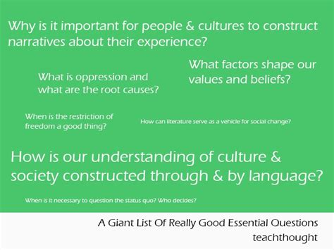 examples  essential questions