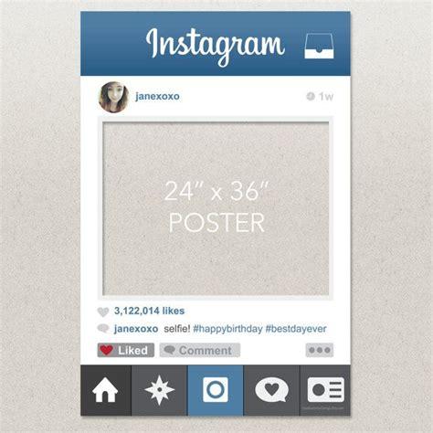 instagram frame prop template birthday or wedding instagram photo prop by creativeuniondesign 25 00 ideas