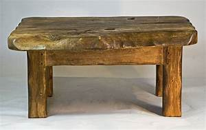 Rustic handmade small wooden coffee table by kwetu for Small rustic wood coffee table