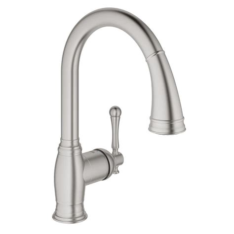 grohe bridgeford kitchen faucet grohe bridgeford single handle pull sprayer kitchen