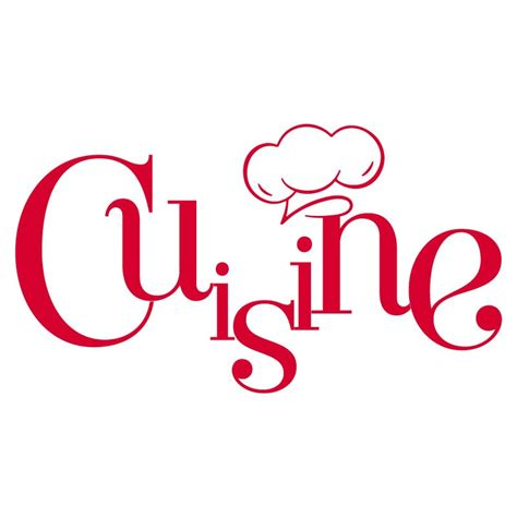logo de cuisine sticker mural quot cuisine et toque quot pour cuisine en vente sur sticker 39 s studio