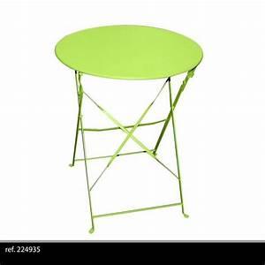 Table Metal Exterieur : table ronde de jardin en metal bistro cafe salon pliante ~ Teatrodelosmanantiales.com Idées de Décoration