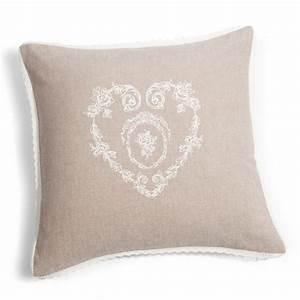 Housse De Coussin 30x30 : housse de coussin en coton beige 40 x 40 cm camille ~ Dailycaller-alerts.com Idées de Décoration