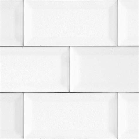 white bevelled matte subway tile kitchen
