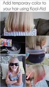 Temporary Hair Dye Using Kool Aid Our Thrifty Ideas
