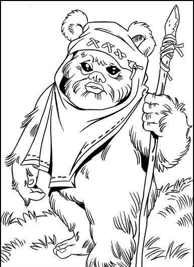 chewbacca coloring pages coloringdoo