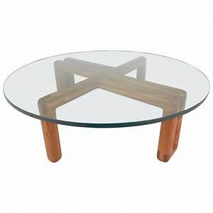 mid century modern round glass coffee table for sale at With round glass coffee tables for sale