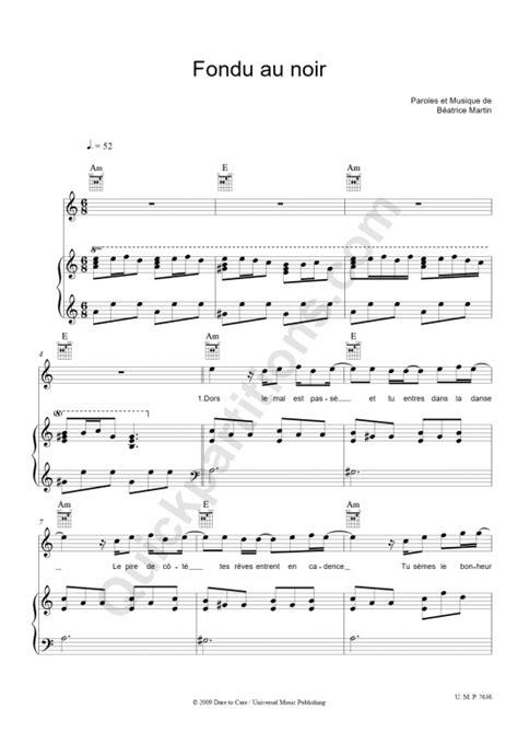 coeur de pirate fondu au noir piano vocal and guitar