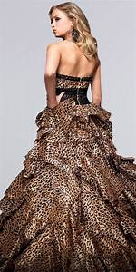 leopard print prom dresses from tony bowls animal prints With leopard print wedding dress