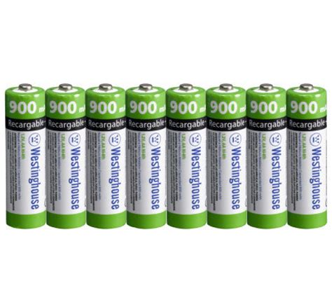 westinghouse set of 8 900 mah 1 2v rechargeable solar