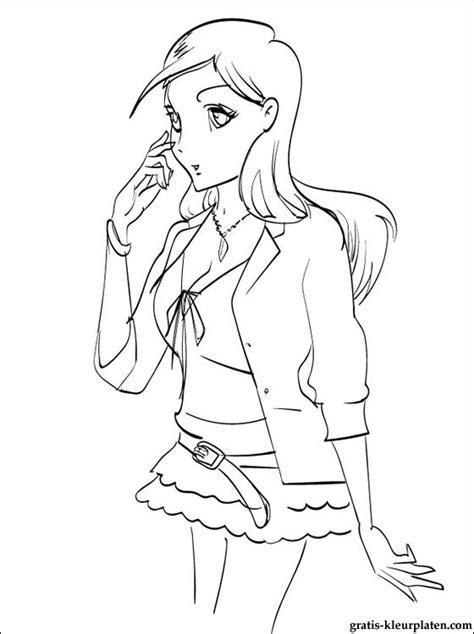 Anime Kleurplaat by Orihime Inoue Kleurplaat Gratis Kleurplaten