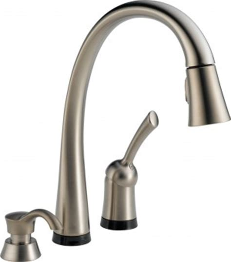 touch kitchen faucets reviews delta 980t sssd dst review and rating