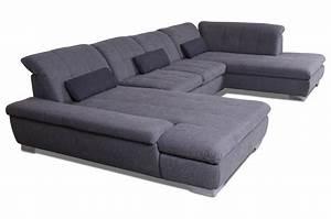 Couch Mit Federkern : ada alina wohnlandschaft 7695 mit schlaffunktion grau ~ Michelbontemps.com Haus und Dekorationen