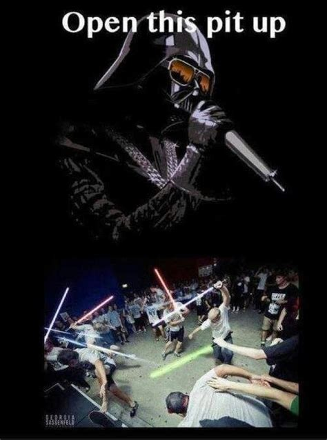 Mosh Pit Meme - star wars mosh pit whoa this would make tony perry and austin carlile happy star wars