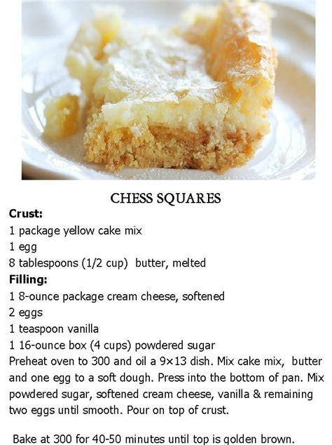 chess squares  fav dessert delicious food