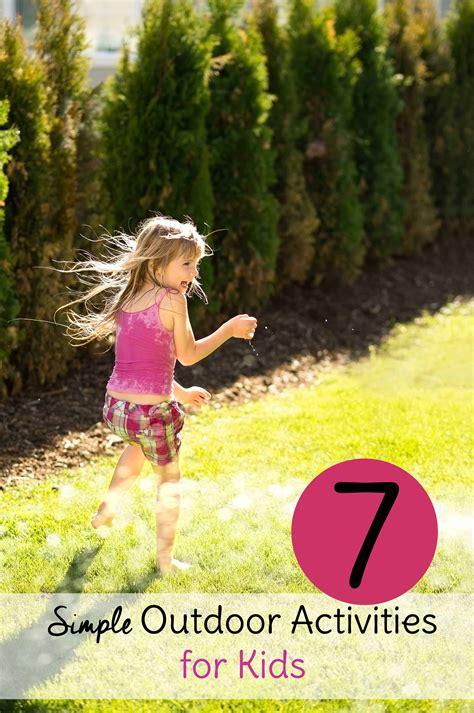simple outdoor activities  kids sweet