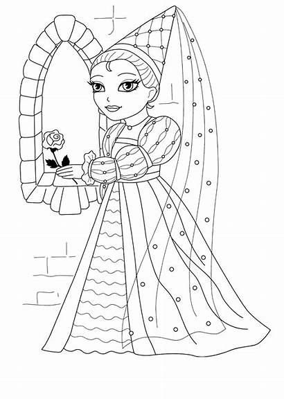 Coloring Princess Castle Irene Rocks Colorare Princesses
