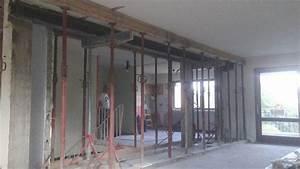 Comment Casser Un Mur Porteur : ouverture avec linteau 21 23 ouverture dans mur porteur ~ Melissatoandfro.com Idées de Décoration