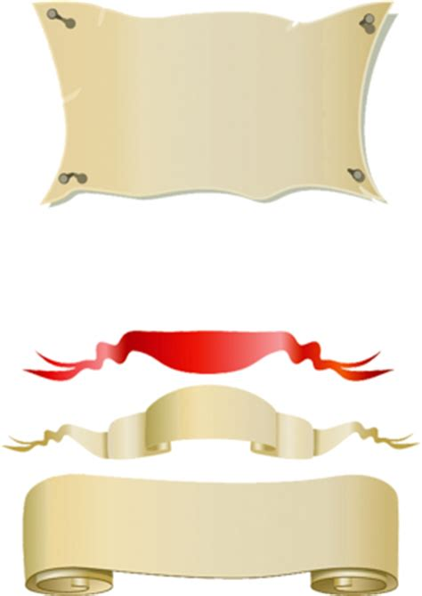psd banner vector images scroll banner vector