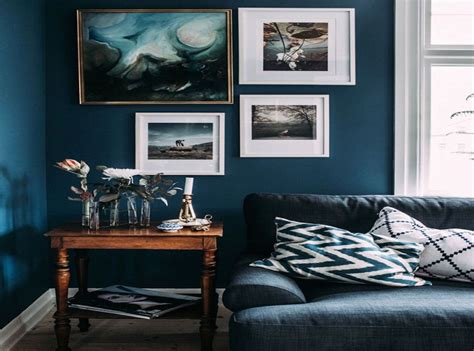 idee deco salon bleu canard idee decoration
