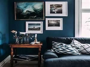 Couleur Bleu Canard Deco : idee deco salon bleu canard id e d coration ~ Melissatoandfro.com Idées de Décoration