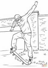 Coloring Skateboarding Street Pages Printable Paper Through Categories sketch template