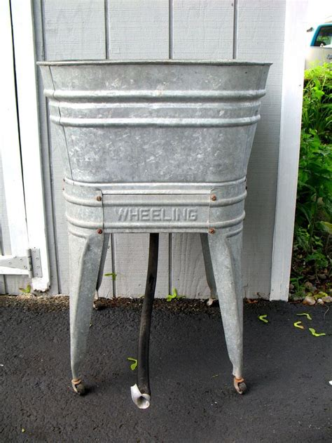 galvanized wash tub sink galvanized wash tub stand for the home pinterest