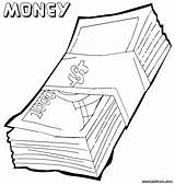 Money Coloring Pages Print Bill Clipart Clip Pdf Colorings Library Designlooter sketch template