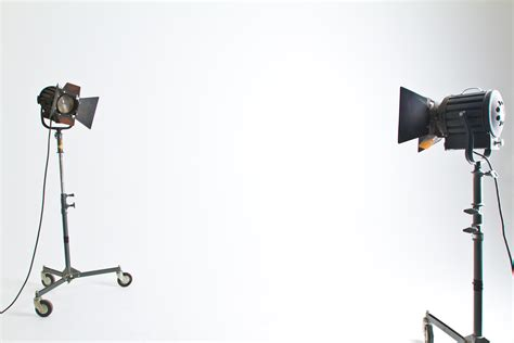 2 black and brown studio lighting in white room 183 free