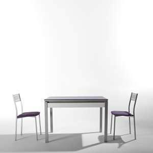 table cuisine avec tiroir table en verre 4 pieds