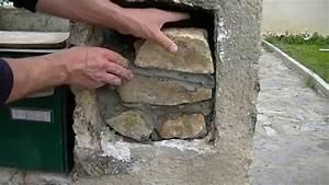 comment boucher un trou dans un mur en pierre youtube With comment ouvrir un mur porteur en pierre