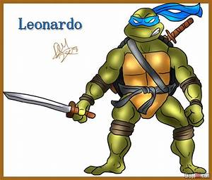 How To Draw Leonardo From Teenage Mutant Ninja Turtles