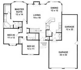floor plans 1500 sq ft plan 1449 ranch w walk in pantry 3 car tandem garage