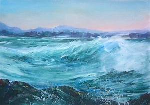 Bakers Beach painting finished and West Point, Burnie ...  Sea