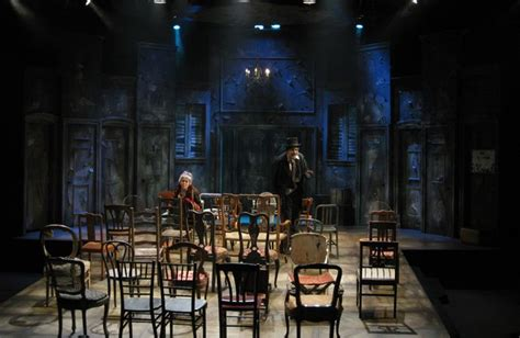 les chaises eugène ionesco architectural lighting blues raked stage the chairs