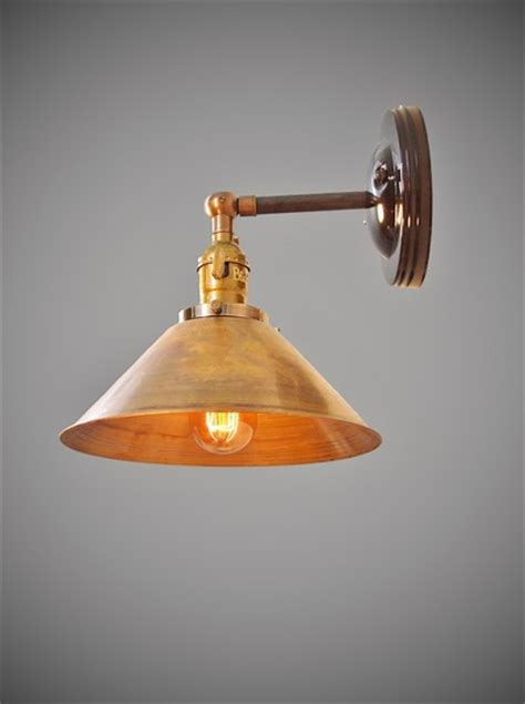 industrial swivel sconce machine age l with 8 quot brass