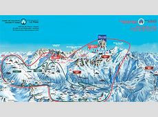 France,Argentiere slopes, ski map Argentiere, runs in the