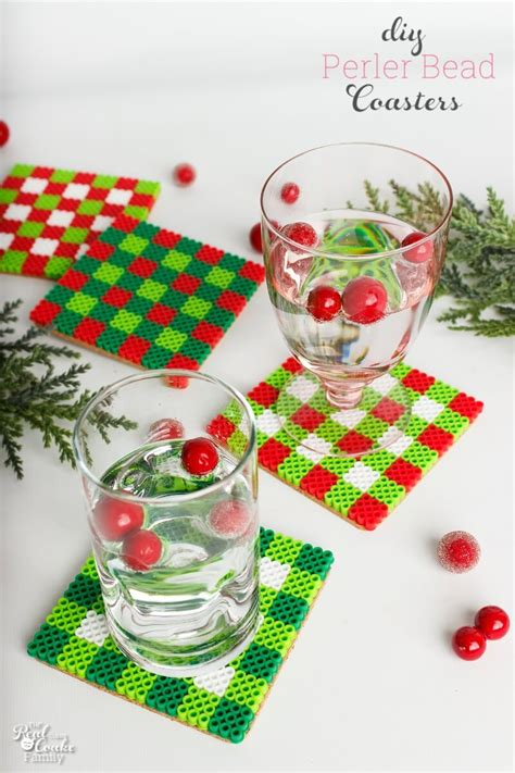 diy coasters  cute christmas craft  gift idea
