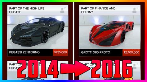 Cost Of Car by How Much Gta Dlc Car Prices Changed The