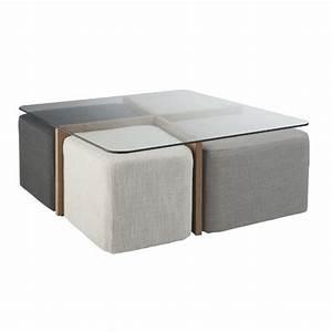 Table Basse Avec Pouf Pas Cher : table basse salon avec pouf le bois chez vous ~ Teatrodelosmanantiales.com Idées de Décoration