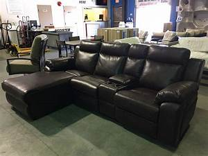 2 piece brown leather reclining sectional sofa With 2 piece sectional sofa with recliner