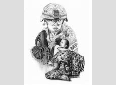 Tour Of Duty Women In Combat Le Drawing by Peter Piatt