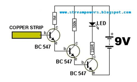 Simple Detector Wireless Electricity Circuit Diagram