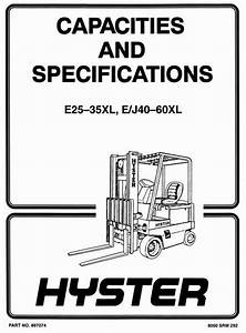 Original Illustrated Factory Workshop Manual For Hyster Forklift Truck Type C108 Original
