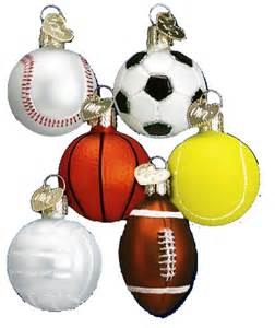 sports merck familys old world christmas baseball bowling basketball golf football hockey