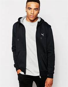 Lyst - Puma Zip Up Hoodie in Black for Men