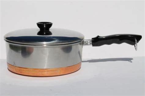 vintage copper bottom stainless steel pots pans set