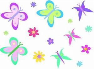 World Flowers : Flowers and Butterflies Clipart