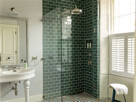 bathrooms with subway tile ideas 40 green bathroom tile ideas and pictures